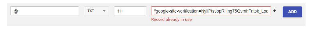 How to fix Google Domains Record Already In Use Error | The